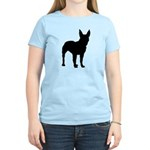 Bull Terrier Silhouette Women's Light T-Shirt