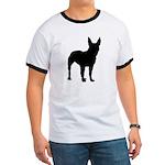 Bull Terrier Silhouette Ringer T