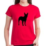 Bull Terrier Silhouette Women's Dark T-Shirt