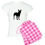 Bull Terrier Silhouette Women's Light Pajamas
