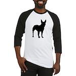 Bull Terrier Silhouette Baseball Jersey