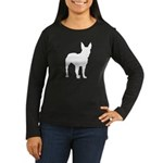 Bull Terrier Silhouette Women's Long Sleeve Dark T