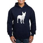 Bull Terrier Silhouette Hoodie (dark)