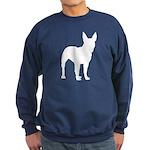 Bull Terrier Silhouette Sweatshirt (dark)