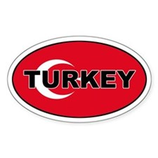 Turkey (Turkish Flag) Oval Decal