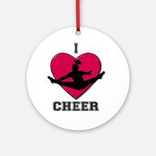I love Cheerleading Ornament (Round)