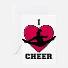 I love Cheerleading Greeting Card