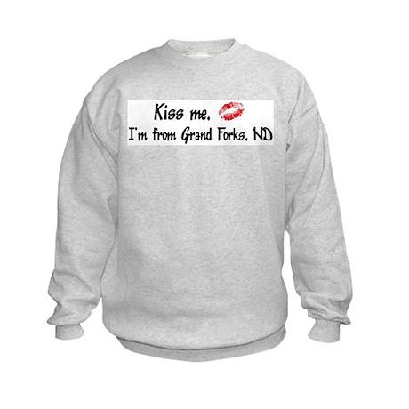 Kiss Me: Grand Forks Kids Sweatshirt