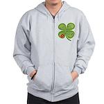 Kiss Me I'm Irish Zip Hoodie