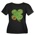 Kiss Me I'm Irish Women's Plus Size Scoop Neck Dar