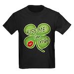 Kiss Me I'm Irish Kids Dark T-Shirt