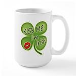 Kiss Me I'm Irish Large Mug