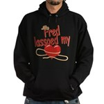 Fred Lassoed My Heart Hoodie (dark)