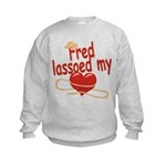 Fred Lassoed My Heart Kids Sweatshirt