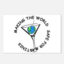 Safe Martinis Postcards (Package of 8)