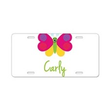 Carly The Butterfly Aluminum License Plate
