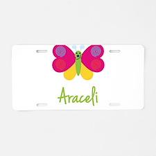 Araceli The Butterfly Aluminum License Plate