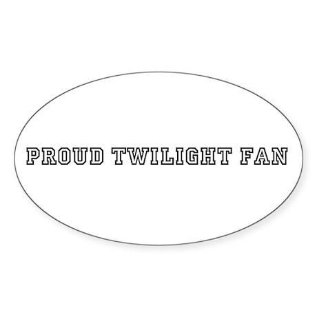 Twilight Fan Sticker (Oval)