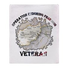 OEF Veteran Throw Blanket