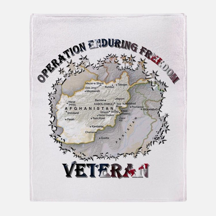 OEF Veteran Throw Blanket