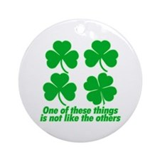 Shamrocks and Clovers Ornament (Round)