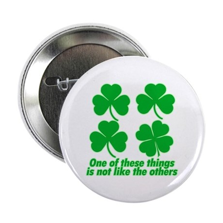 """Shamrocks and Clovers 2.25"""" Button"""