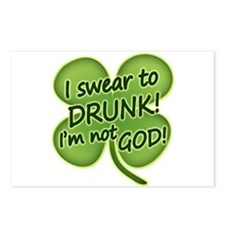 I Swear To Drunk I'm Not God Postcards (Package of