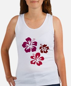 Red Hibiscus Women's Tank Top