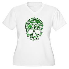Shamrock Skull St Patricks Day T-Shirt