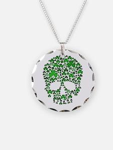 Shamrock Skull St Patricks Day Necklace