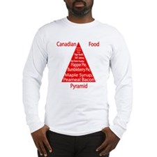Canadian Food Pyramid Long Sleeve T-Shirt