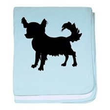 Chihuahua Silhouette baby blanket