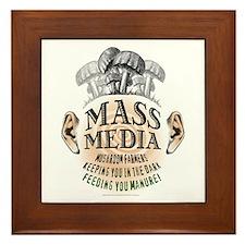 Mass Media Framed Tile
