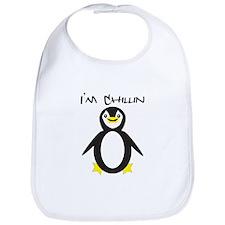 Chillin Penguin Bib