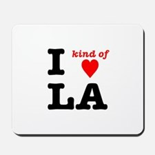 i kind of heart LA Mousepad