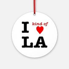i kind of heart LA Ornament (Round)