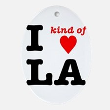 i kind of heart LA Ornament (Oval)