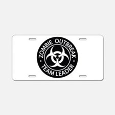 ZO Team Leader Black Aluminum License Plate