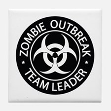 ZO Team Leader Black Tile Coaster