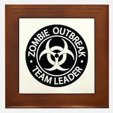 ZO Team Leader Black Framed Tile
