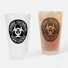 ZO Team Leader Black Drinking Glass