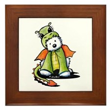 Year Of The Dragon Westie Framed Tile