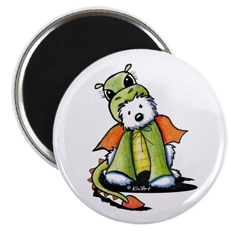 """Year Of The Dragon Westie 2.25"""" Magnet (10 pack)"""