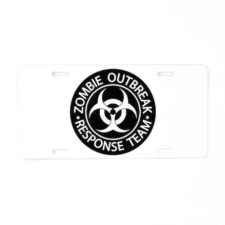 ZO Response Team Black Aluminum License Plate