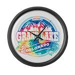Grand Lake Old Circle Large Wall Clock
