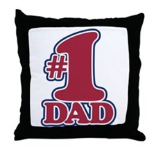#1 DAD Throw Pillow