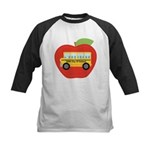 100th Day of School Apple Kids Baseball Jersey