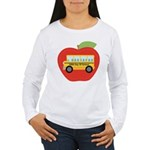 100th Day of School Apple Women's Long Sleeve T-Sh