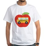 100th Day of School Apple White T-Shirt