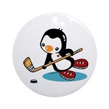 I Like Ice Hockey Ornament (Round)